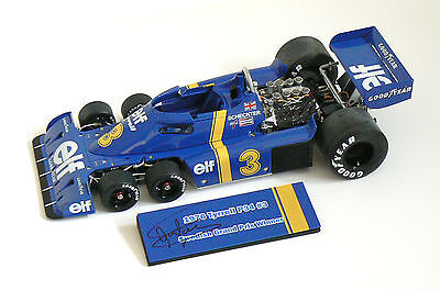 Tyrrell Ford P34 SIGNED Jody Scheckter 1976 Swedish F1 Grand Prix, TSM 10185 COA
