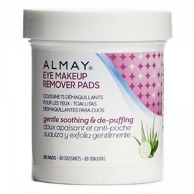 Oil-Free Eye Makeup Remover Pads by Almay for Unisex - 80 Pc pads, New Health an