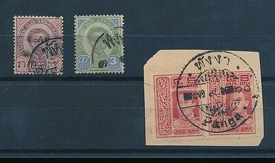 THAILAND SIAM PANGA POSTMARK 4 stamps EARLY ISSUES