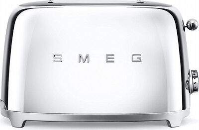 SMEG TSF01SSUK | 50's Retro | Two Slice Toaster | Stainless Steel