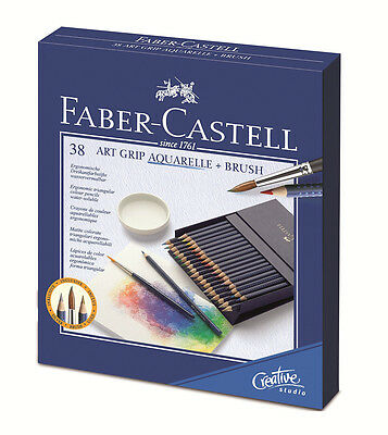 #114238 Gift Box of 38 Faber-Castell Art Grip Aquarelle Water Colour Pencils