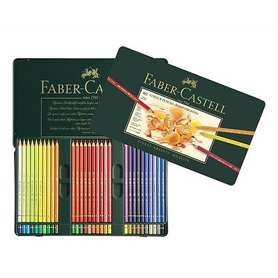 #110060 Faber Castell Tin of 60 Polychromos Artists Pencils Assorted Colours Art