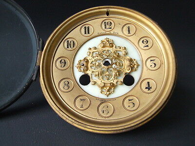 Antique ornate French clock dial bezel & glass Corke & Son for repair or spares