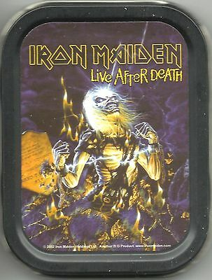 IRON MAIDEN live after death 2002 oblong MINI STASH TIN no longer made IMPORT