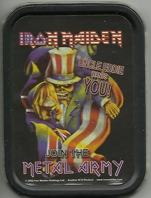 IRON MAIDEN metal army 2002 oblong STASH TIN no longer made IMPORT official