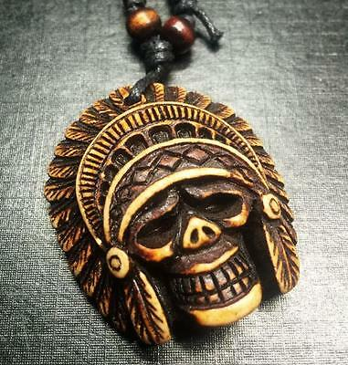 12Pc Wholesale Lots Tibet-Chief Skull Head Pendant&necklace Yy009