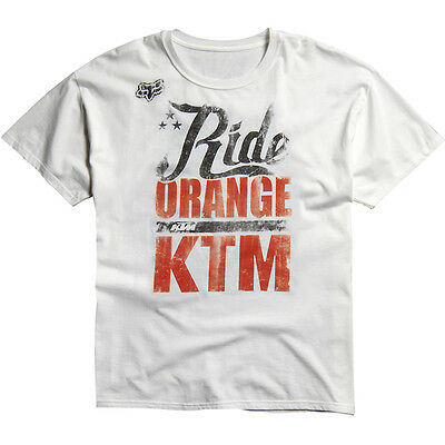 Fox – KTM White Ride Orange Youth T-Shirt - Medium