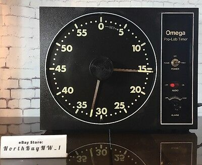 OMEGA Darkroom Timer Lab Photo Timer Clock 60 Alarm Photography GREAT CONDITION