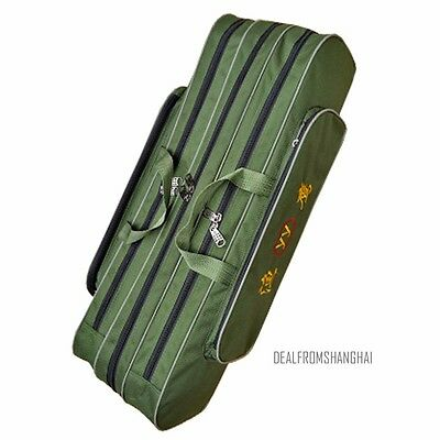 Fishing Rod Tackle Bag Case Carry Padded Holder Luggage Holdall 80cm 2/3 Layer
