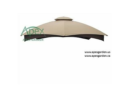 APEX GARDEN Replacement Canopy Top for LOWE'S Allen Roth 10X12 Gazebo GF-12S004B