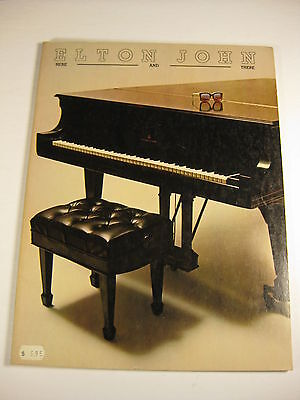 Elton John Here and There album 1976 USA songbook sheetmusic
