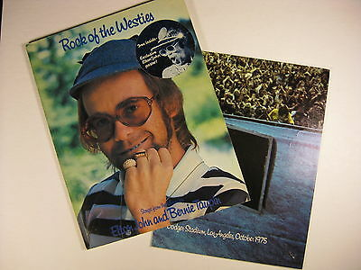 Elton John Rock of the Westies album 1975 USA songbook sheetmusic with POSTER