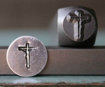SUPPLY GUY 8mm Jesus Cross Metal Punch Design Stamp SGCH-102