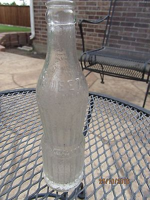 1920s Era SQUEEZE Soda Bottle - PEORIA ILLINOIS IL - Art Deco