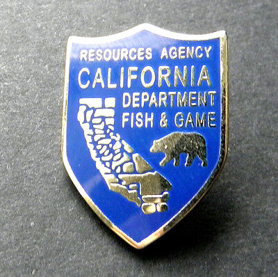 Us California State Department Fish And Game Lapel Pin Badge 1 Inch