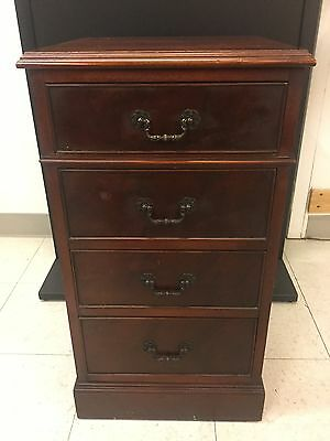 ANTIQUE  MAHOGANY 4 Drawer Taller Nightstand