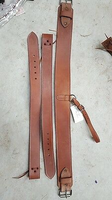 Rear girth cinch strap leather western rodeo horse saddle