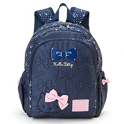 NEW Sanrio Hello Kitty Backpack Navy with Pink Ribbon from Japan