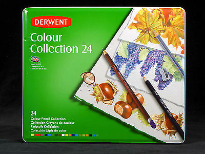 Derwent Colour Pencil Collection 24 Assorted Media Starter Drawing Set Quality