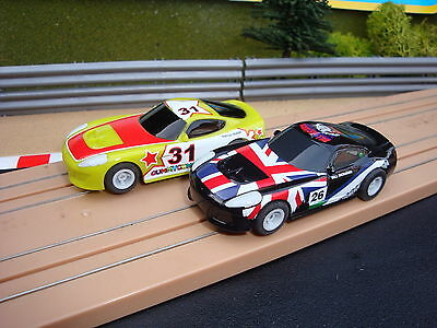 Pair Mint Complete Micro Scalextric Cars In Excelent Running Condition.....