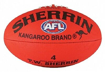 SHERRIN AFL Red Synthetic SIZE 4  Football