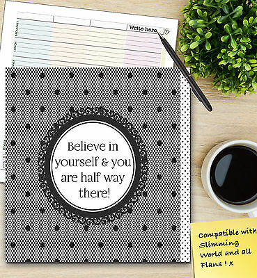Food Diary Slimming World Compatible Book A5 Weight Loss Diet Journal Planner B