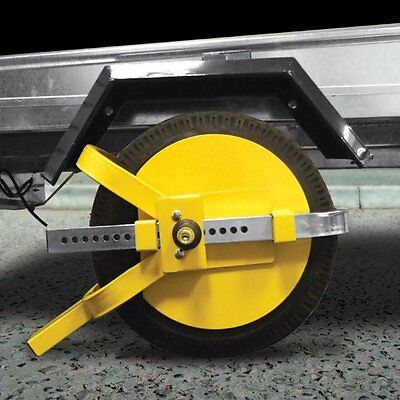 "Heavy Duty Steel Car Van Wheel Clamp 13"" - 15"" Safety Lock For Caravan Trailer"
