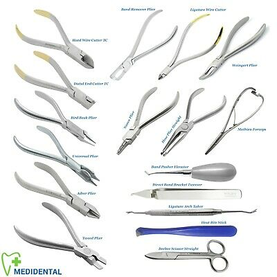 Professional Medidental Orthodontic Pliers For Braces Archwire Cutters Adrer New