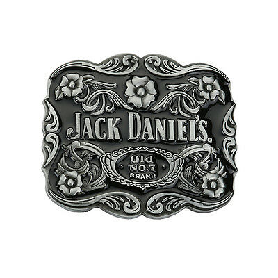 Jack Daniels Old NO 7 brand 5 Roses Belt Buckle Tennessee Whiskey Western Cowboy