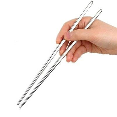 Metal Stainless Steel Chopsticks -1 Pair - chop sticks - sushi - kitchen utensil