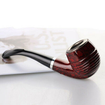 Durable Wooden Enchase Smoking Pipe Tobacco Cigarettes Cigar Filter Pipes Gift