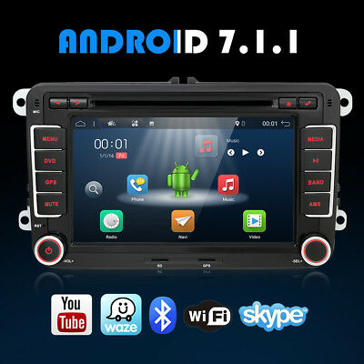 2Din Android Autoradio 4.4 GPS NAVI DVD Player+ WIFI for VW Jetta Passat Polo