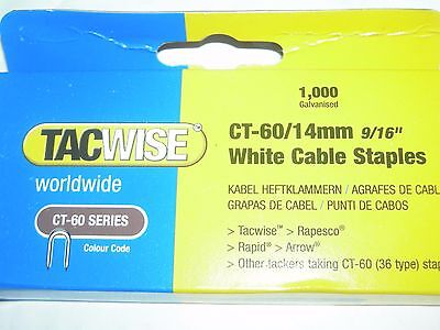 tacwise rapesco ct60 white cable staples 14mm   stanley ct10 rapid r36 ms675