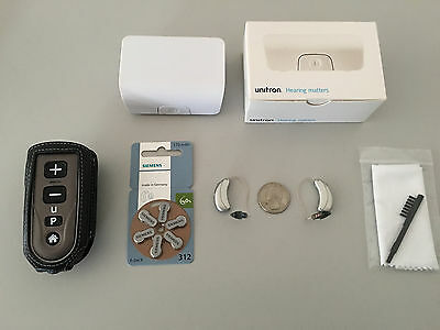 2xUnitron Moxi Fit 500 RIC Hearing Aids with Remote Control 2 -Newest Model-