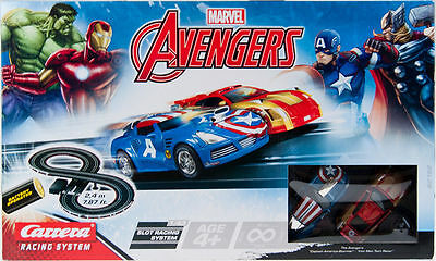 NEW Avengers 8 RC TRACK RACING SYSTEM - Captain America Iron Man HOT Xmas Gift