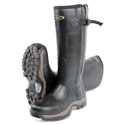 Dirt Boot® Neoprene Rubber Wellington Muck Boot Pro-Sport™ Hunt Zip Black