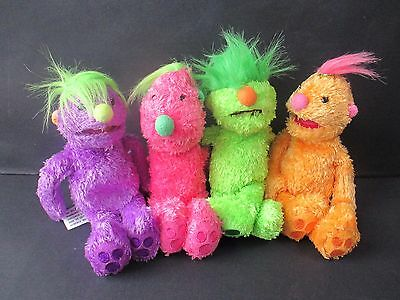 Hoobs Beanies Tula Groove Iver And Roma Soft Toys 2001 Jim Henson