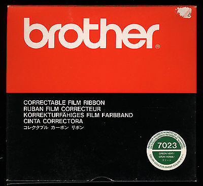 1x BROTHER 7023 Film Farbband GRÜN Gr. 154C ORIGINAL f. CE 50 EM80 100 HR series