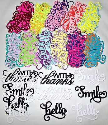 Die Cuts hello with Thanks Smile 12 Color Choices UPick by Anna Griffin Freeship