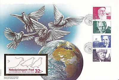 B07218 Markenheftchen-Brief Schweden sweden Nobelpreis nobel price Vögel birds
