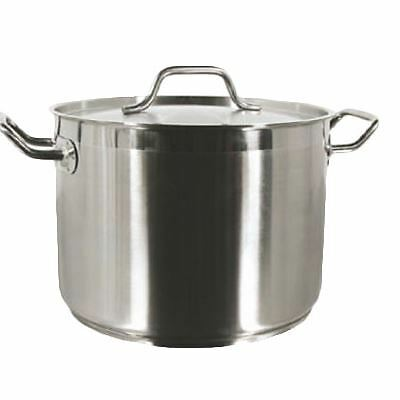 Thunder Group SLSPS040 Stock Pot, 40 Quart, with Lid, Induction Ready, 18/8 S/S