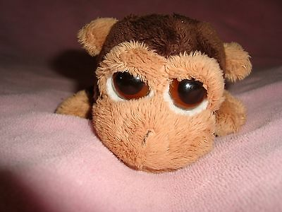 "Russ Lil Peepers Monkey Duggleby 6"" long Plush & Beans"