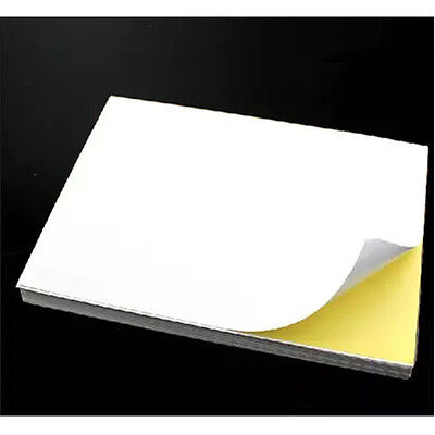100 A4 Self Adhesive Glossy Paper Label Sticker for Laser and Inkjet Printers