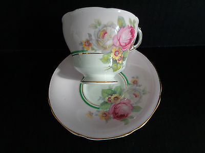 PARAGON By Appointment CHARMING PINK TEA CUP & SAUCER  BOUQUET Double Logo