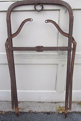 Huge Antique Cast Wrought Iron farm Hay Tool Butcher Hooks Kitchen Steampunk