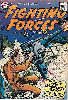 Our Fighting Forces Comic Book #17, DC Comics 1957 VERY GOOD+/FINE-