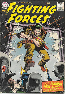Our Fighting Forces Comic Book #19, DC Comics 1957 VERY GOOD+
