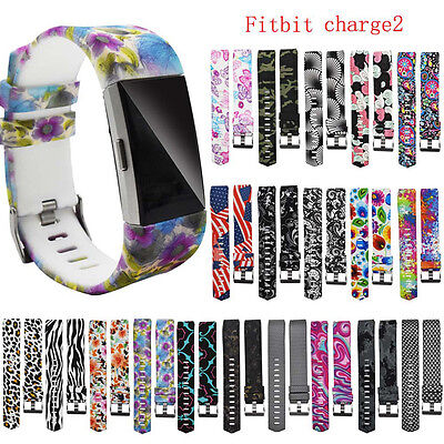 New Replacement Watch Sports TPU Bracelet Strap Band For Fitbit Charge 2 Style