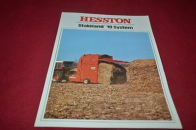 HESSTON STAKHAND 10 System Dealers Brochure YABE10