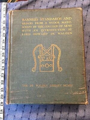 1904 Banners Standards And Badges British Royalty College Of Arms King Genealogy